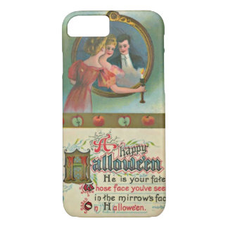 Vintage Halloween Romantic Humor Man In Mirror iPhone 8/7 Case