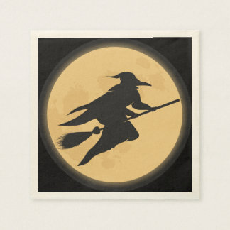 Vintage Halloween Silhouette Design Disposable Napkins