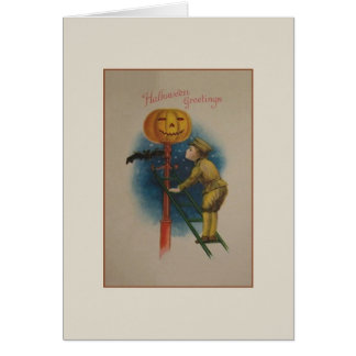 Vintage Halloween Soldier Greeting Card