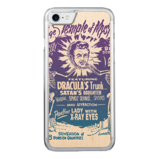Vintage Halloween Spook Show Temple of Mystery Carved iPhone 7 Case
