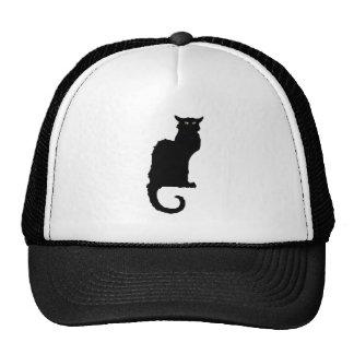 Vintage Halloween, Spooky Art Nouveau Black Cat Trucker Hat