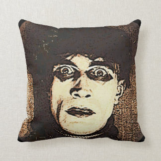 VIntage Halloween Spooky Ghoul Throw Pillow
