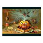 Vintage Halloween Table Postcard
