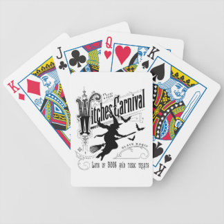 Vintage Halloween Witch Bicycle Playing Cards