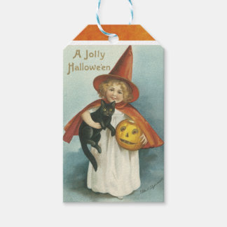 Vintage Halloween Witch Gift Tags Pack Of Gift Tags