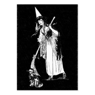 Vintage Halloween Witch Large Business Card
