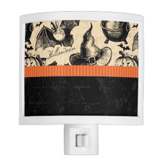 Vintage Halloween Witch Night Light