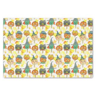 Vintage Halloween Witch Owl Pumpkins Tissue Paper