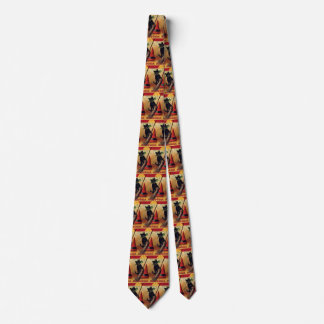 Vintage Halloween with a Black Cat and Witch's Hat Tie