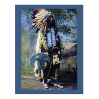 Vintage Hand Colored Lakota Sioux Magic Lantern Postcard