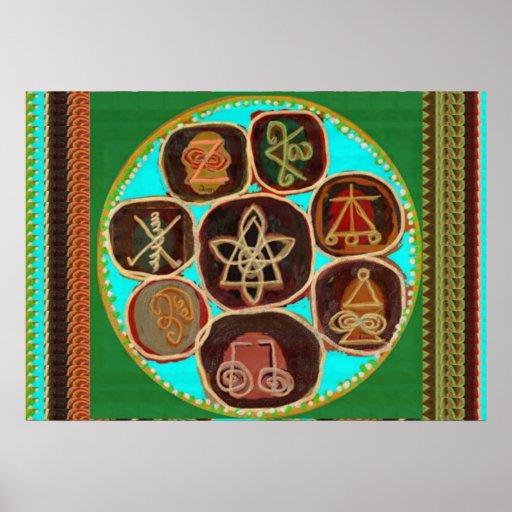 VINTAGE Handcrafted KARUNA Reiki Master Symbols 99 Poster