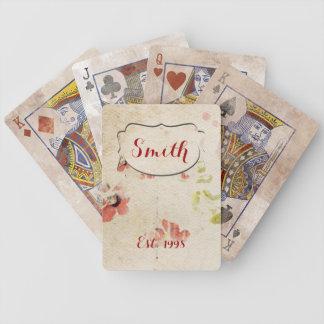 Vintage Handmade Paper & Pressed Flowers Poker Deck