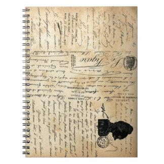 Vintage Handwriting Notebook