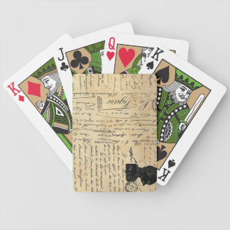 Vintage Handwriting Playing Cards