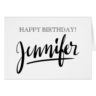 Vintage handwritten name Jennifer Birthday cards