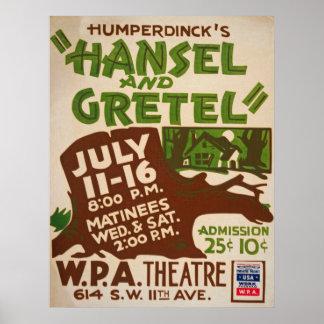Vintage Hansel & Gretel Poster