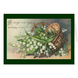 Vintage -  Happy Birthday Greeting Card