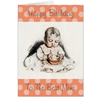 Vintage Happy Birthday to the Best Mimi Card