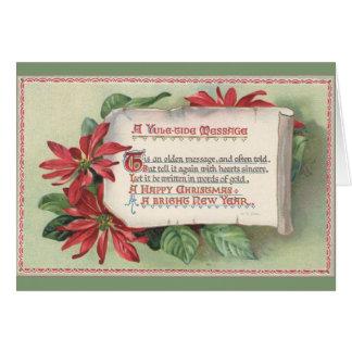 Vintage Happy Christmas Yuletide Greeting Card