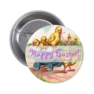 Vintage Happy Easter Designs Pinback Button