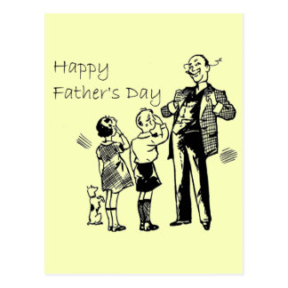Vintage Happy Father's Day Postcard