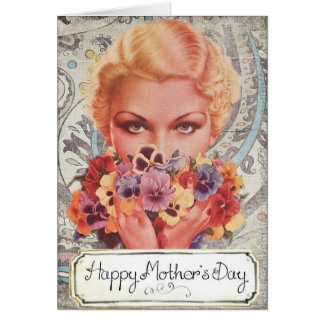 Vintage Happy Mother's Day. Card