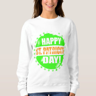 Vintage Happy Saint Patricks Day Logo Sweatshirt