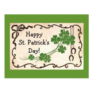 Vintage Happy St. Patrick's Day! Postcard