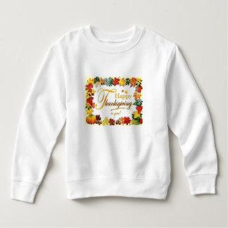 Vintage Happy Thanksgiving Colorful Leaves Sweatshirt