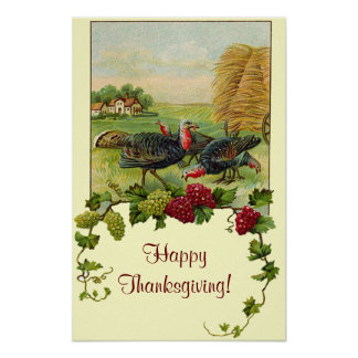 Vintage Happy Thanksgiving Print