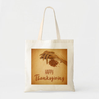 Vintage Happy Thanksgiving Wheat - Budget Tote