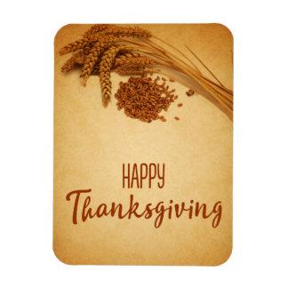 Vintage Happy Thanksgiving Wheat - Flexible Magnet