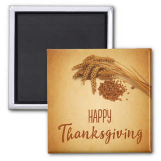 Vintage Happy Thanksgiving Wheat - Magnet