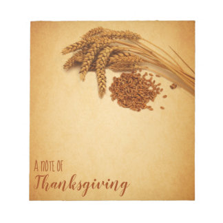 Vintage Happy Thanksgiving Wheat - Notepad