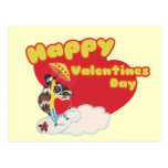 Vintage Happy Valentines Day Postcard
