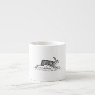 Vintage Hare Bunny Rabbit 1800s Illustration Espresso Cup