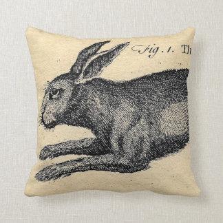 Vintage Hare Rabbit Pillow