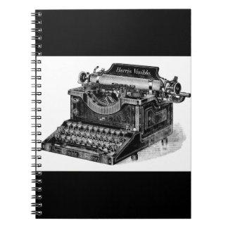 Vintage Harris Visible Typewriter Notebook
