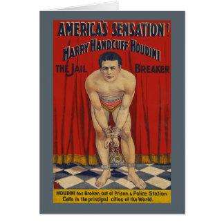 Vintage Harry Handcuff Houdini - The Jail Breaker Card