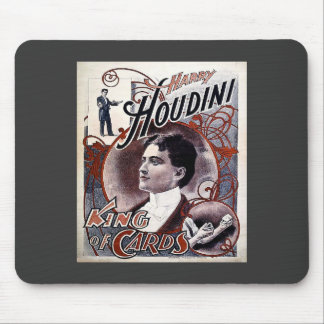 Vintage Harry Houdini King of Cards Advertisement Mouse Pad