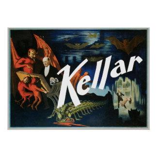Vintage Harry Kellar Magician Poster 1897
