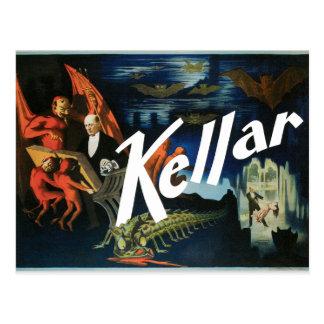 Vintage Harry Kellar Magician Poster 1897 Postcard