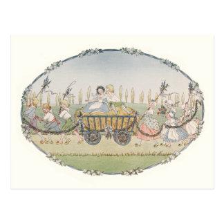 Vintage Harvest Cart by H. Willebeek Le Mair Postcard