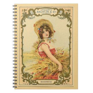 Vintage Harvest Lady Notebook