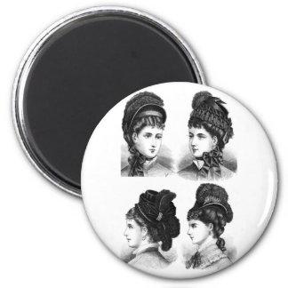 Vintage Hats 2 Inch Round Magnet