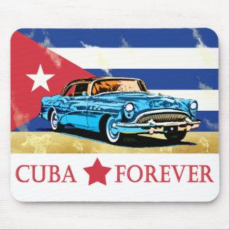 Vintage Havana Cuba Flag Classic Car Mouse Pad