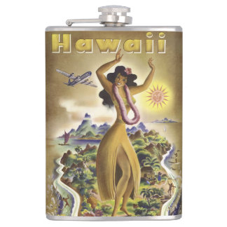 Vintage Hawaii 2 Hip Flask