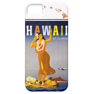 Vintage Hawaii Hula Art Hawaiian Islands Map Case For The iPhone 5