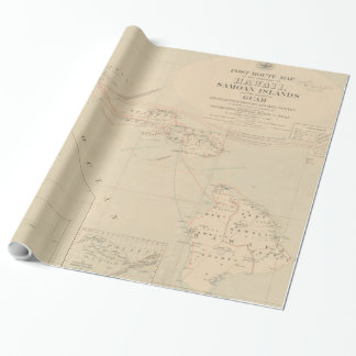 Vintage Hawaii Postage Route Map (1903) Wrapping Paper