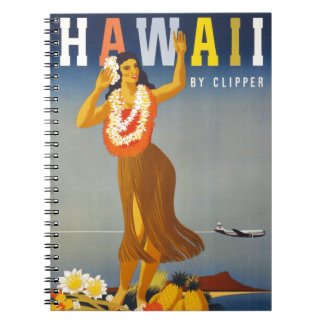 Vintage Hawaii Tourism Poster Scene Notebook
